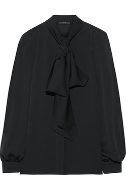 Gucci  - Pussy Bow Silk Georgette Top
