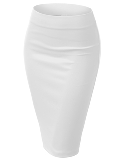 J. Tomson - Stretchy Mid Length Pencil Skirt