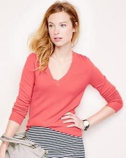 Garnet Hill - Modern Cashmere V-Neck Sweater