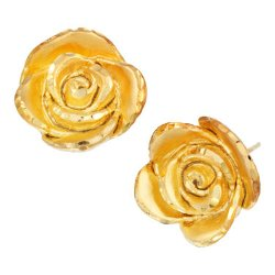 Metals Guide - Gold-Over-Sterling Silver Rosebud Earrings