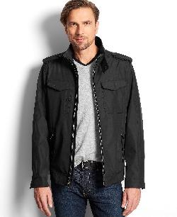 Perry Ellis Portfolio  - Big and Tall Lightweight Moto Jacket