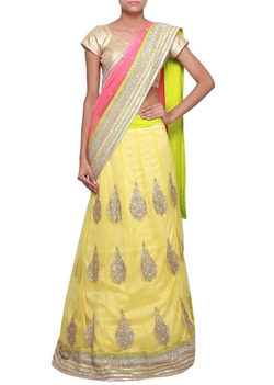 Panisha - Indian Anarkali Half Lehenga Saree