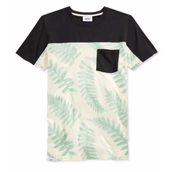 WeSC - Colorblocked Leaf-Print T-Shirt