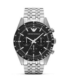 Emporio Armani  - Silver Seven Link Bracelet Watch