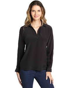 Wyatt - Silk Long Sleeve Collar Blouse
