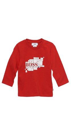 Boss Hugo Boss - Toddler Long-Sleeved Cotton Print Crewneck T-Shirt