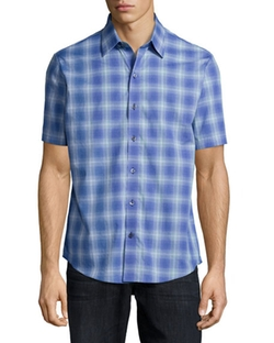 Zachary Prell - Plaid Woven Short-Sleeve Shirt