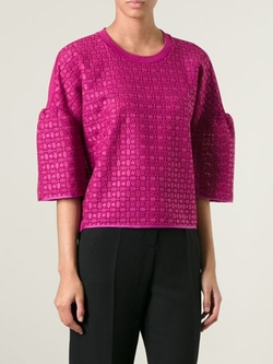 Giambattista Valli - Embroidered Cropped Top