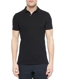 Burberry London	  - Tipped Pique Polo Shirt