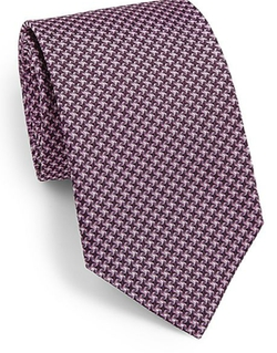 Saks Fifth Avenue Collection  - Cross Stitch Silk Tie