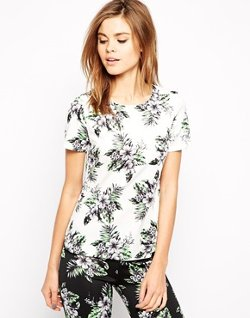 Warehouse - Hibiscus Print Co-ord Top