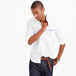J. Crew - Slim Vintage Oxford Shirt With Tipped Pocket