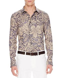 Michael Kors   - Floral-Print Linen Shirt