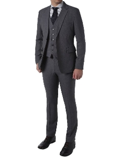 Nyfashioncity - Three Piece Set Wool Two Button Dandy Suit