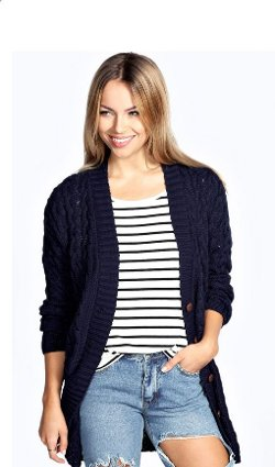Lucy  - Cable Knit Cardigan