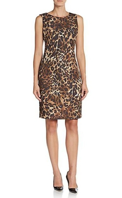 Lafayette 148 New York  - Abella Leopard-Print Sheath Dress
