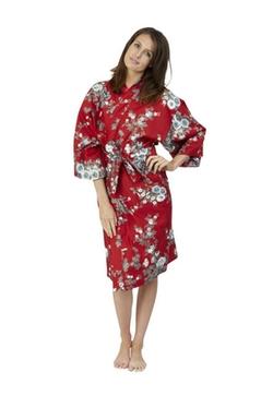 Beautiful Robes - Peony & Blossom Cotton Kimono