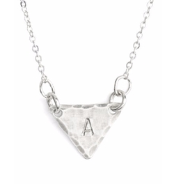 Nashelle - Initial Mini Triangle Necklace
