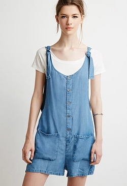 Forever21 - Life in Progress Buttoned Chambray Romper