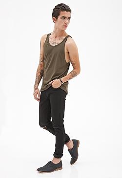 Forever 21 - Cotton Modal-Blend Tank Shirt