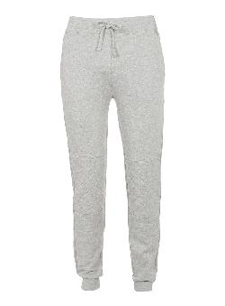 Topman - GREY QUILTED DEEP CUFF SWEATPANTS