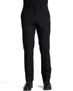 Armani Collezioni  - Flat-Front Dress Pants, Black