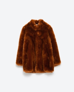 Zara - Faux Fur Coat