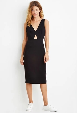 Forever 21 - Contemporary Cutout Sheath Dress