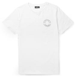 A.P.C. - Printed Cotton-Jersey T-Shirt