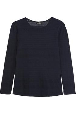 A.P.C. Atelier De Production Et De Création  - Carla Striped and Modal-Blend Sweater