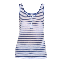 Frame Denim - Le Nautical Striped Linen Tank Top