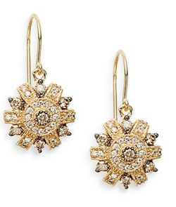 Effy - TCW Espresso Diamond Drop Earrings