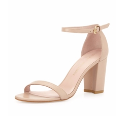 Stuart Weitzman  - Nearlynude Leather City Sandals