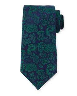 Charvet  - Paisley-Print Silk Tie