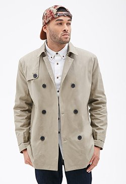 Forever21 - Double-Breasted Trench Coat