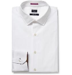Paul Smith London  - White Slim-fit Cotton Shirt