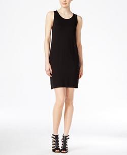 Kensie - Pleated Contrast Tank Dress