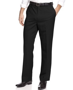 Louis Raphael - Straight Fit Washable Wool Hidden Extension Pants