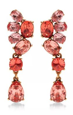 Oscar De La Renta  - Crystal Drop Earrings