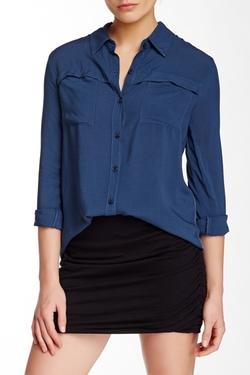 Splendid - Button-Down Long Sleeve Shirt