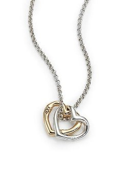 John Hardy - Double Heart Pendant Necklace