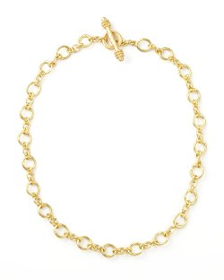 Elizabeth Locke - Riviera Gold Link Necklace
