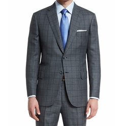 Brioni  - Birdseye Plaid Two-Button Wool Suit