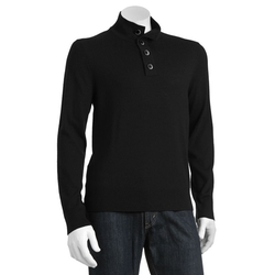 Apt. 9 - Modern-Fit Button Mockneck Merino Sweater