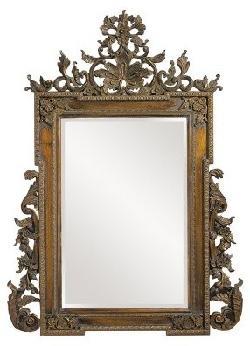 Howard Elliot - Elizabeth Carved Baroque Oversized Mirror