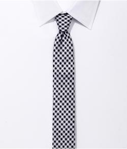 Express - Skinny Silk Tie - Check
