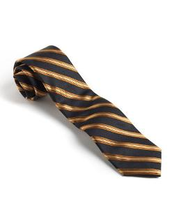 Black Brown 1826 - Classic Fit Silk Striped Tie