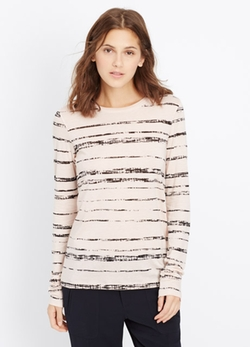 Vince - Shadow Stripe Print Long Sleeve Tee