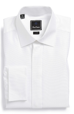 David Donahue - Trim Fit French Cuff Tuxedo Shirt