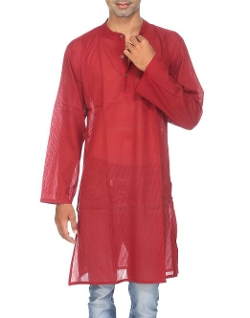 RajRang -  Cotton Dolby Casual Wear Mens Long Kurta